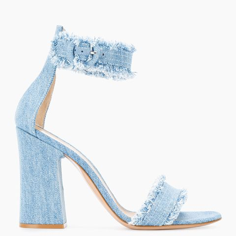 Frayed Denim Kiki 105 Sandals