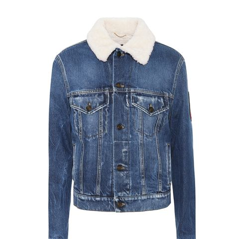 Shearling-Lined Denim Jacket