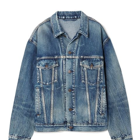 Like a Man Oversized Printed Denim Jacket