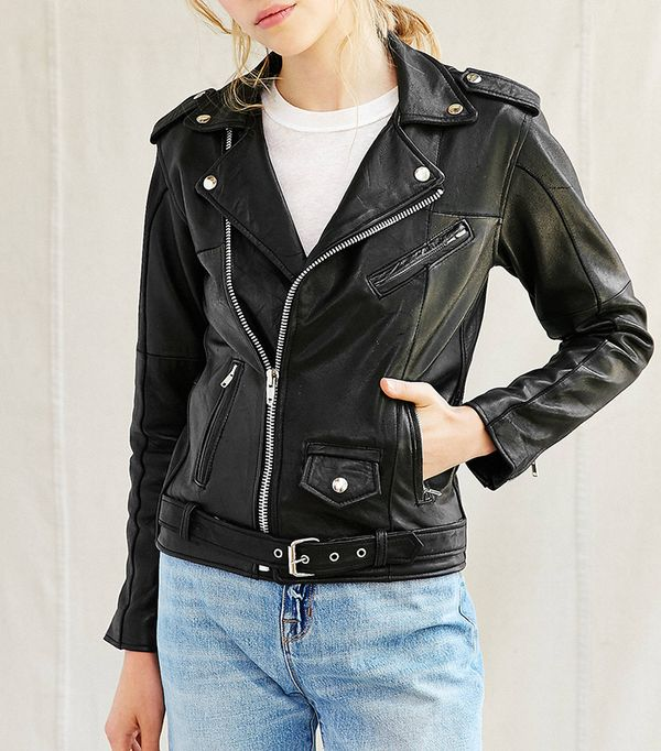 leather jacket styles - PeleCheCoco Leather Moto Jacket