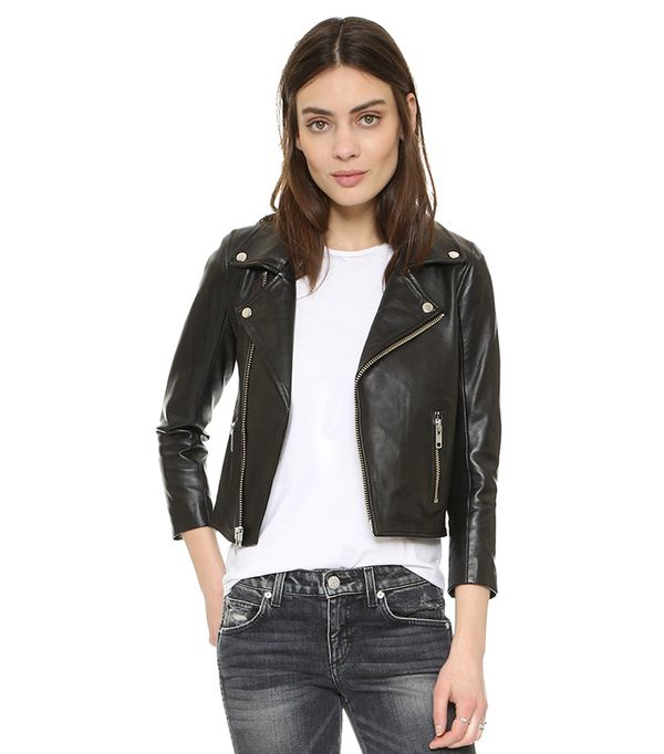 cool leather jackets - Ganni Biker Jacket