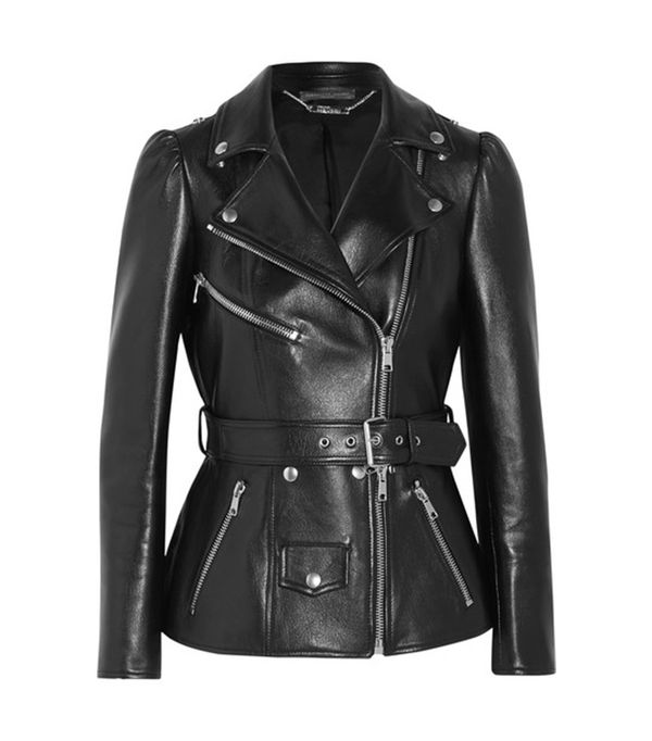 cool leather jackets - Alexander Mcqueen Belted Leather Biker Jacket