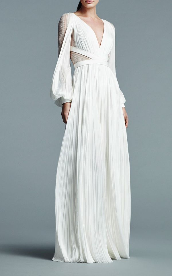 Boho Wedding Dress: J. Mendel
