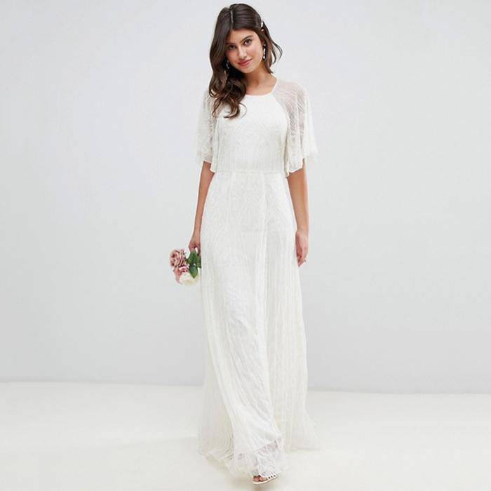 The Best Boho Wedding Dresses For Bohemian Brides Who What Wear Uk,Wedding Dress Glitter Top