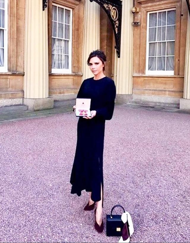Victoria Beckham OBE ceremony