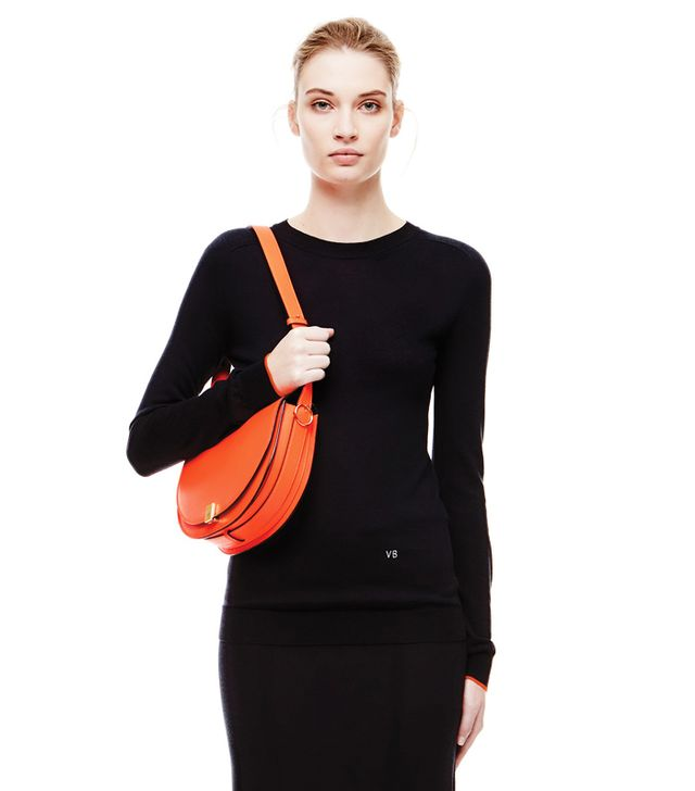 Victoria Beckham Crewneck With Cuff Colour Contrast