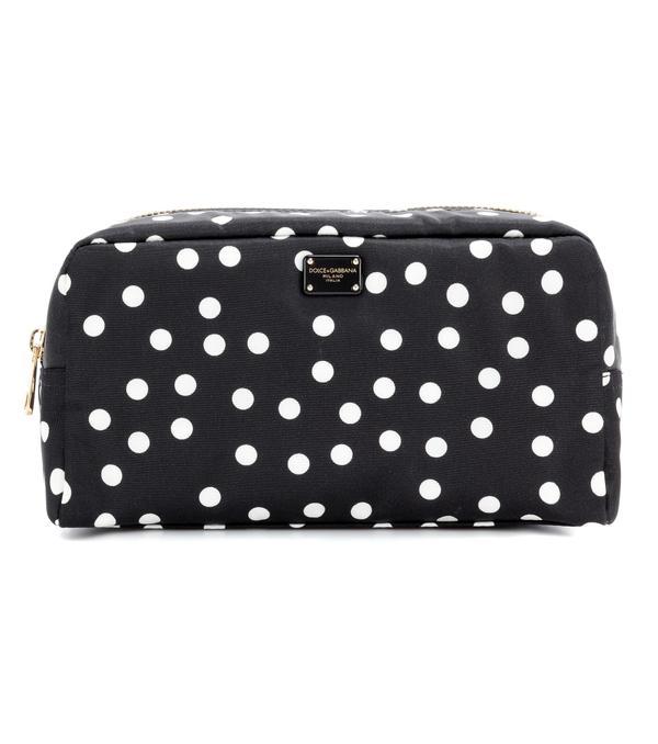 Designer Washbags as Clutch bags: Dolce & Gabbana Polka-Dot Pouch