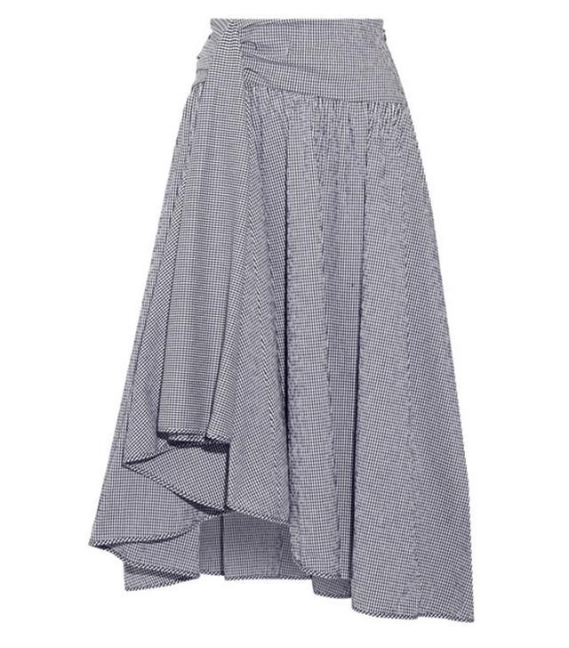 Rosie Assoulin gingham frill skirt