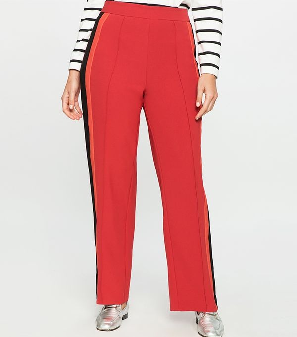 Eloquii Striped Satin Pant