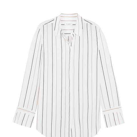 Holly Striped Washed-Silk Shirt