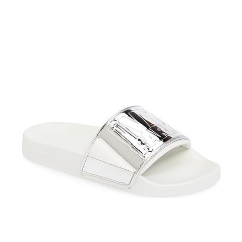 Mirror Logo Slide Sandal