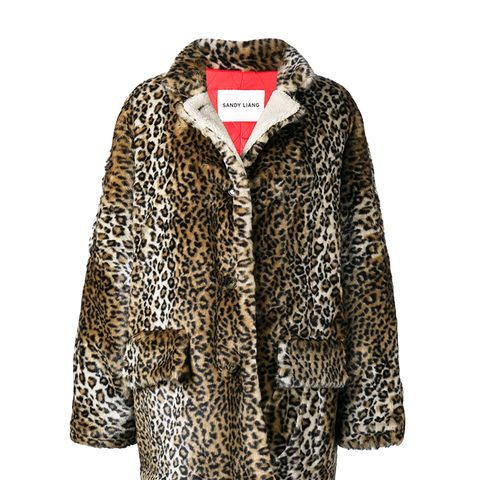 Quincy Leopard Print Coat