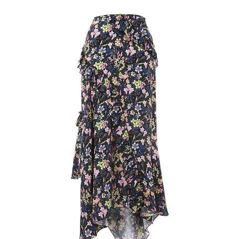 Aster Silk Skirt