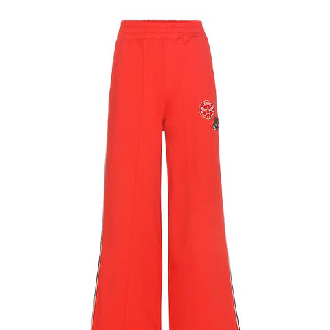 Cotton Track Pants With Appliqué