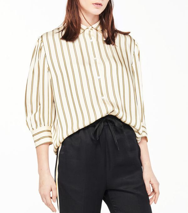 Sandro Shirt with Thick Stripes