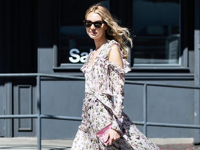 Floral Print Dress Street Style