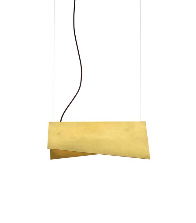 Room decorating ideas — brass suspension light