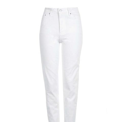 Moto White Mom Jeans