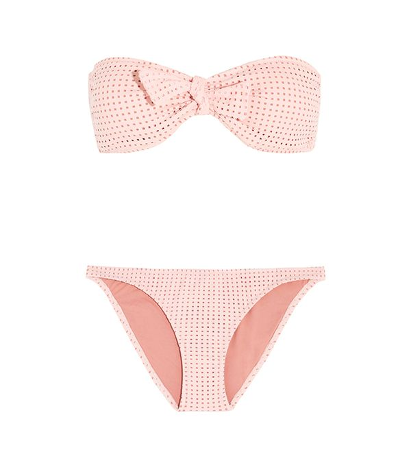 Melissa Odabash Aruba Perforated Bandeau Bikini Top