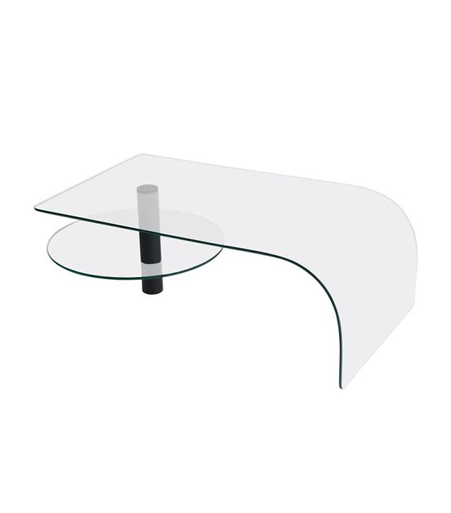 Patrick Moultney Design Group Post-Modern Two-Tier Waterfall Edge Glass Cocktail Table
