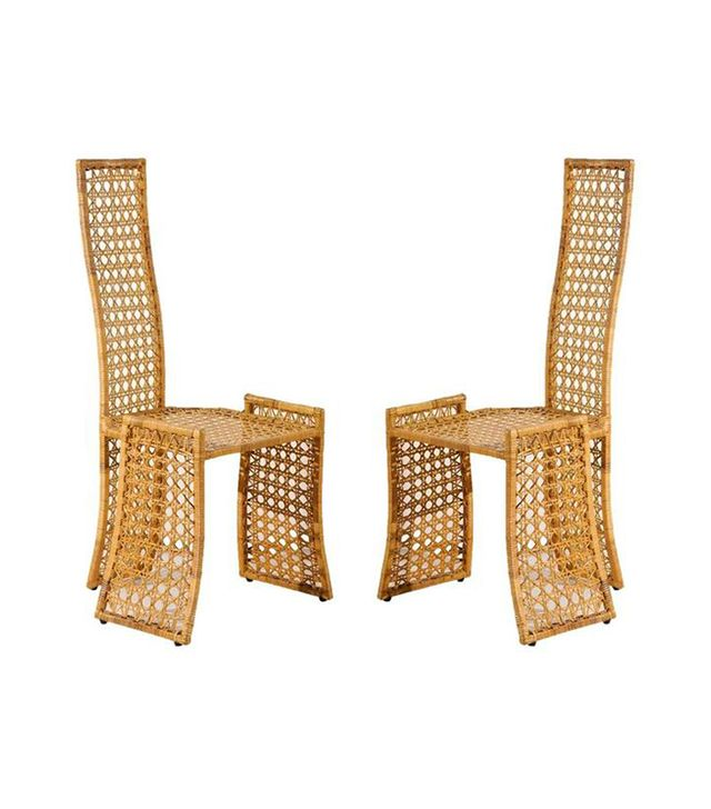 Danny Ho Fong Fabulous Set of Six Rattan Dining Chairs