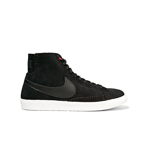 Blazer Mid Suede and Shearling High-Top Sneakers