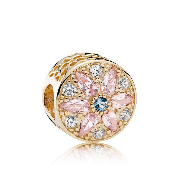 Pandora 14ct Gold Opulent Floral Charm