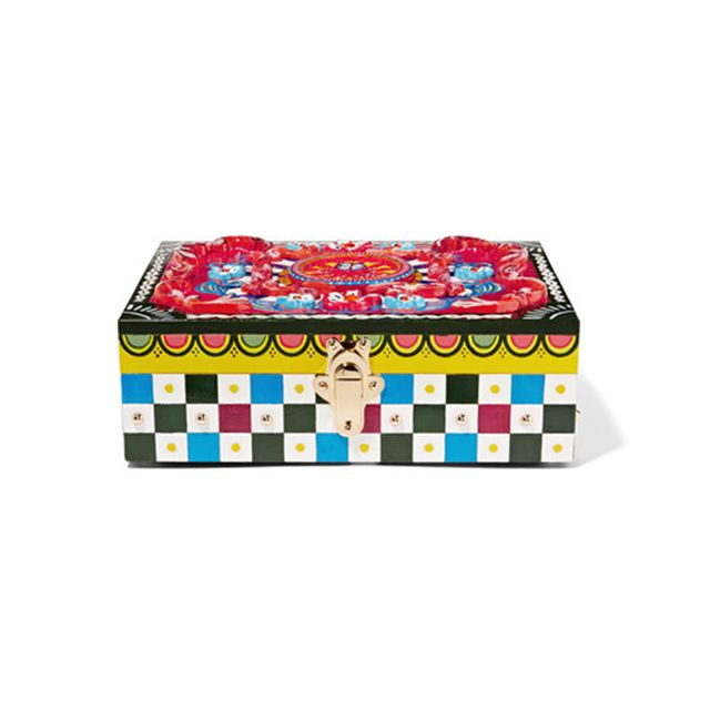 Dolce & Gabbana Carretto Painted Carved Wood Jewellery Box