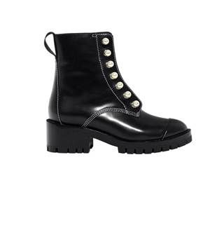3.1 Phillip Lim Hayett Lug Sole Zipper Boot with Pearls