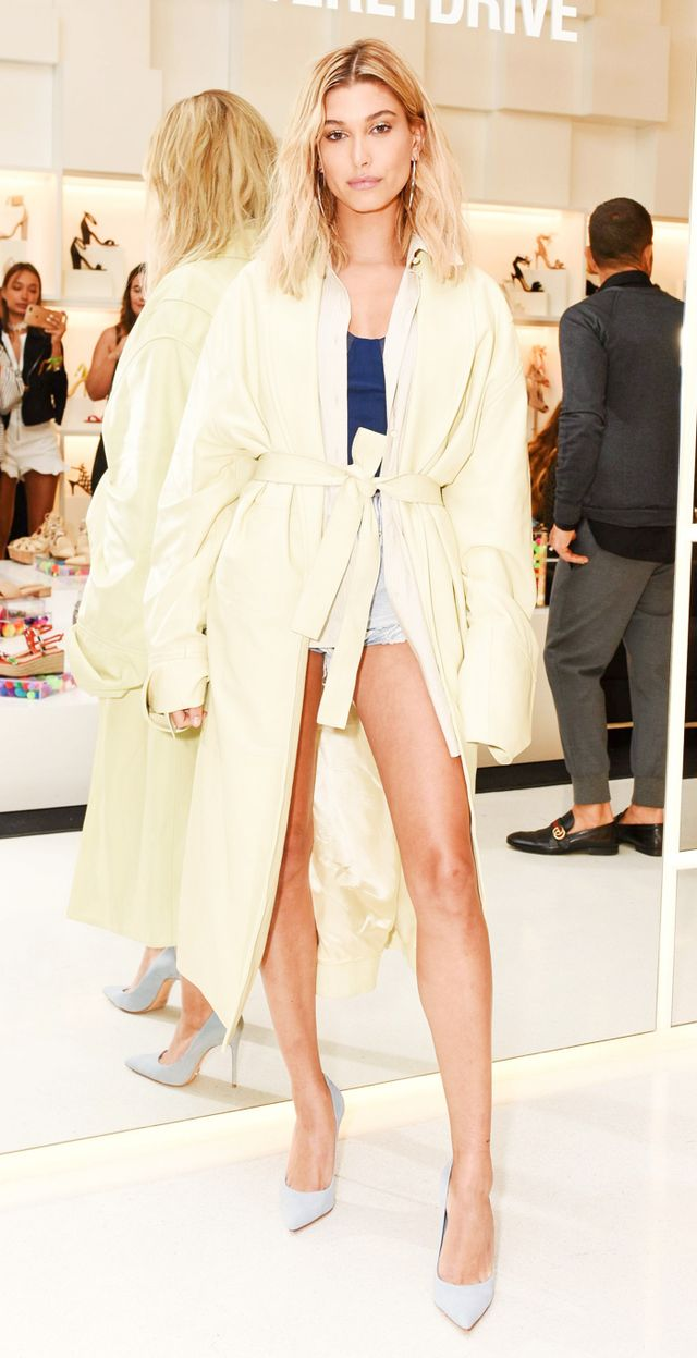 Hailey Baldwin trench
