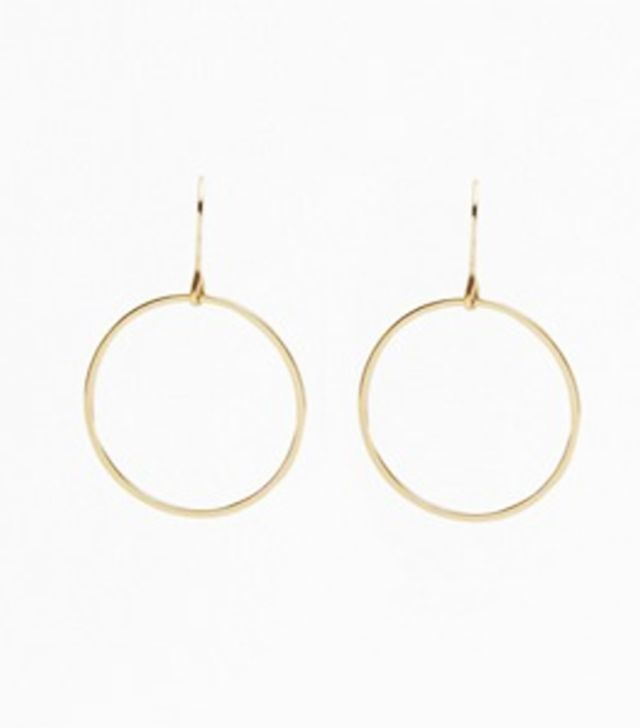 French Connection Core Thin Circle Hoop Earrings