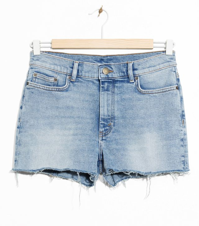 & Other Stories Raw Hem Denim Shorts