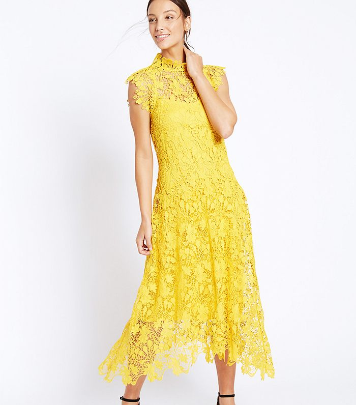 New In High Street: M&S Collection Floral Lace Cap Sleeve Dress