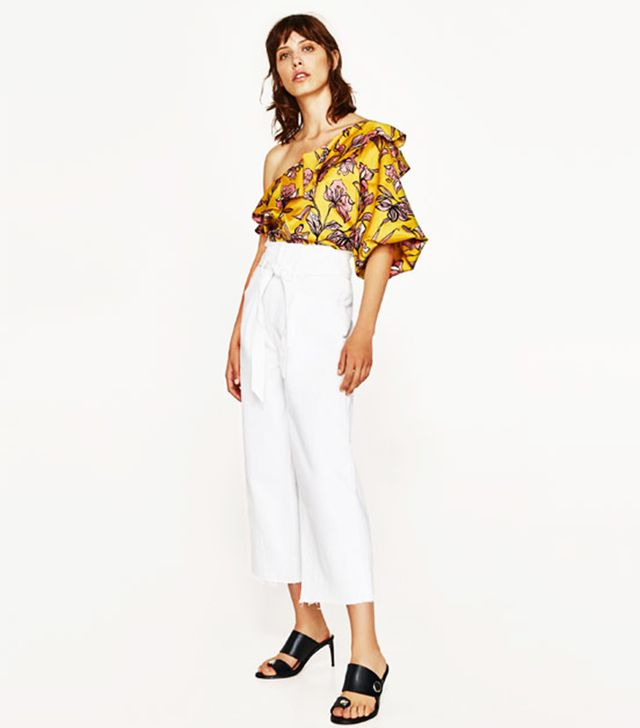 New In High Street: Zara Floral Blouse