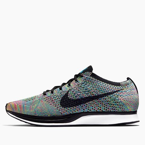 Flyknit Racer Sneakers in Green Strike