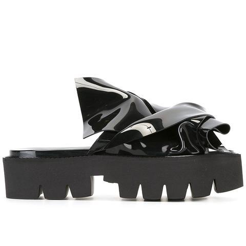 Flat Bow Platform Sandals