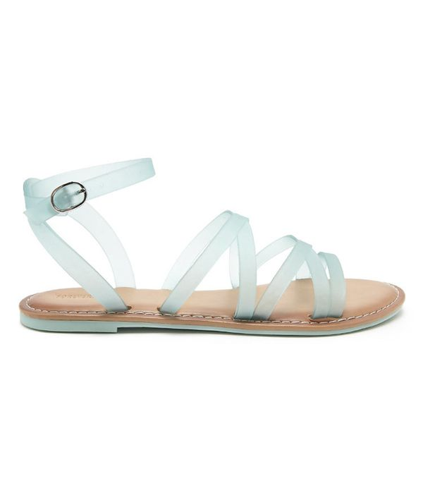 Forever 21 Jelly Ankle-Strap Sandals