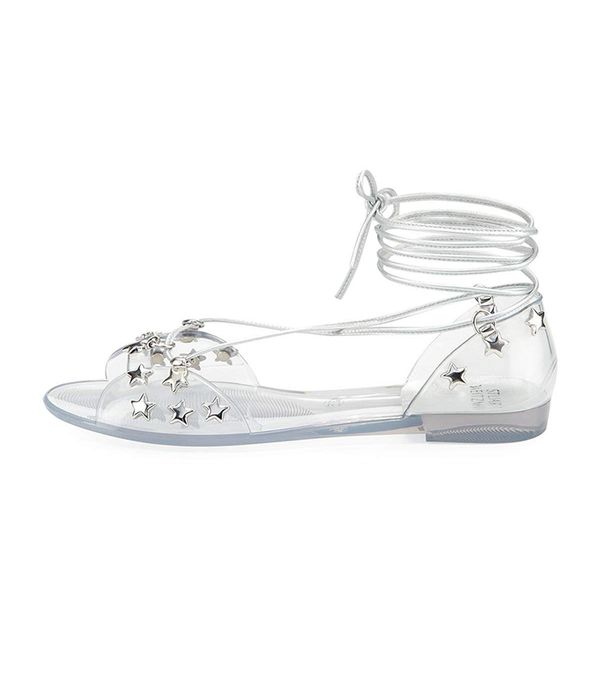 Stuart Weitzman Glass Noodles Star Jelly Sandal