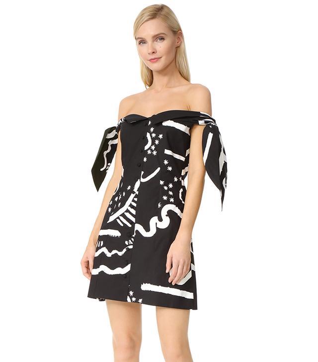 Isa Arfen Off-the-Shoulder Knot Dress
