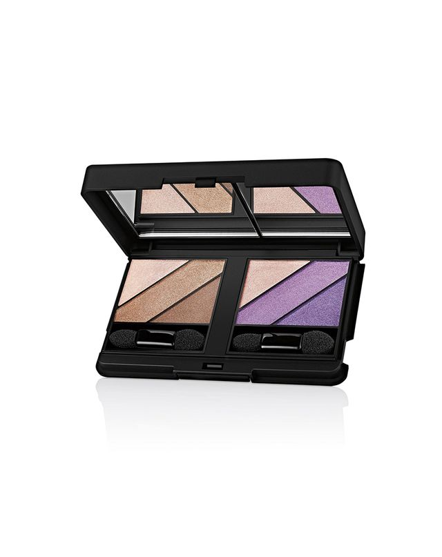 Elizabeth Arden Custom Little Black Compact and Eyeshadow Trio in Not So Nude and Touch of Lavender
