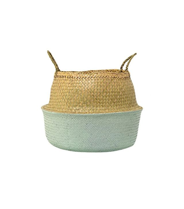 Target Seagrass Basket With Handles in Natural/Sky Blue