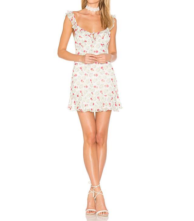 best white mini dress majorelle