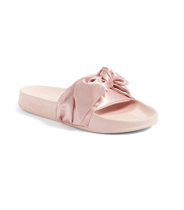 Fenty Puma by Rihanna Bow Slides in Silver Pink