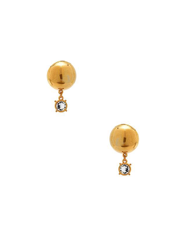 LPA For Fwrd Sphere Stud Earrings With Crystal