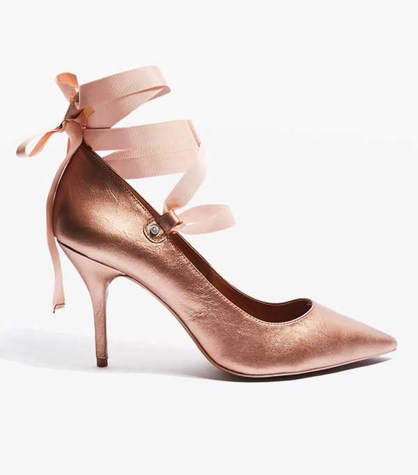 Topshop Gibbon Ribbon Court Shoes