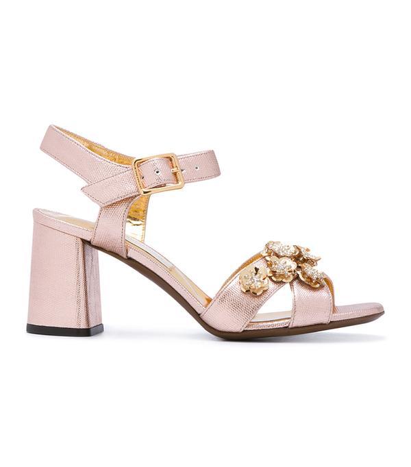 L'Autre Chose Embellished High-Heel Sandals
