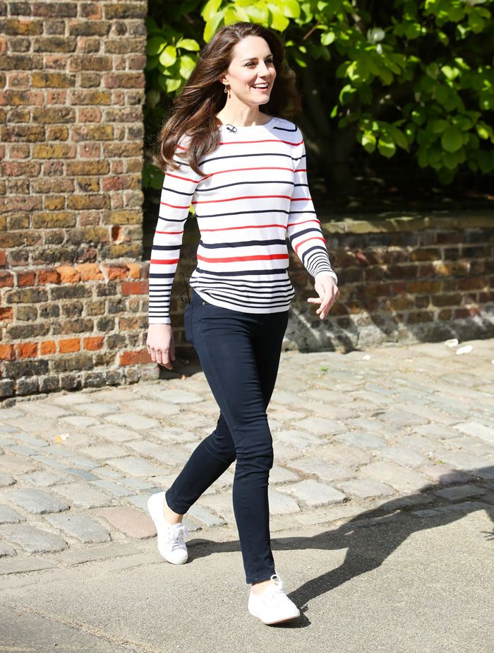 Kate Middleton white sneakers