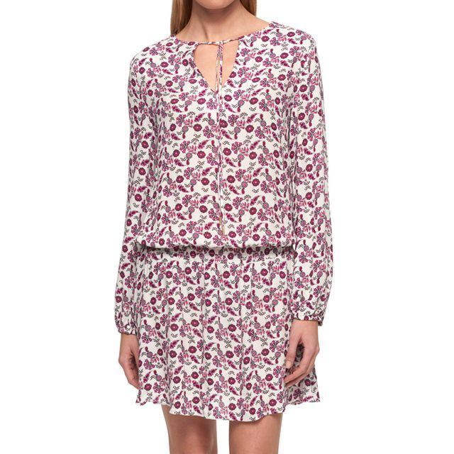 Tommy Hilfiger Cotton Printed Peasant Dress