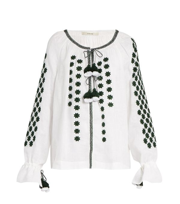 How to shop on ebay: Vita Kin All Stars Embroidered Linen Blouse