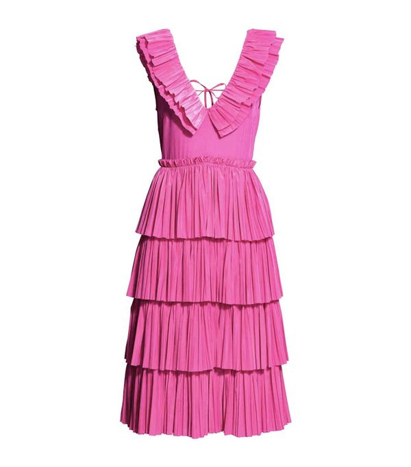 How to shop on ebay: H&M Pleated Tiered Dress